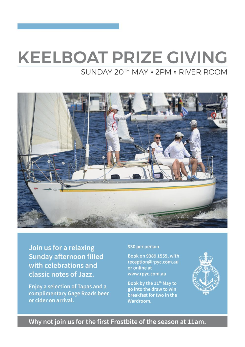 ITW April 2018 Keelboat prize night