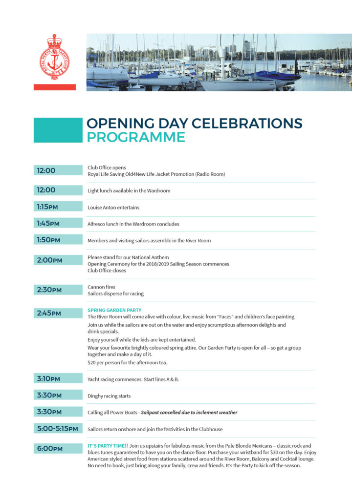 RPYC Opening Day Program A4 2018 v3