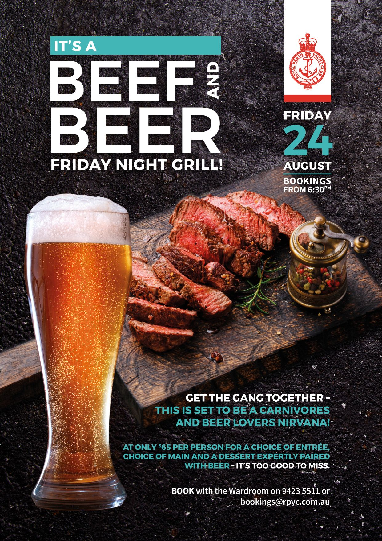 RPYC Beef and Beer A4 Poster 08 2018