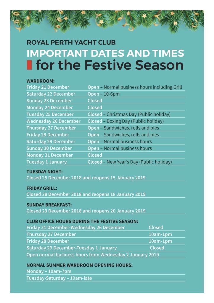 New ITW Dec 2018 Festive dates