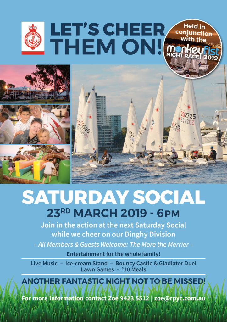 RPYC Saturday Sail Social A4 02 2019