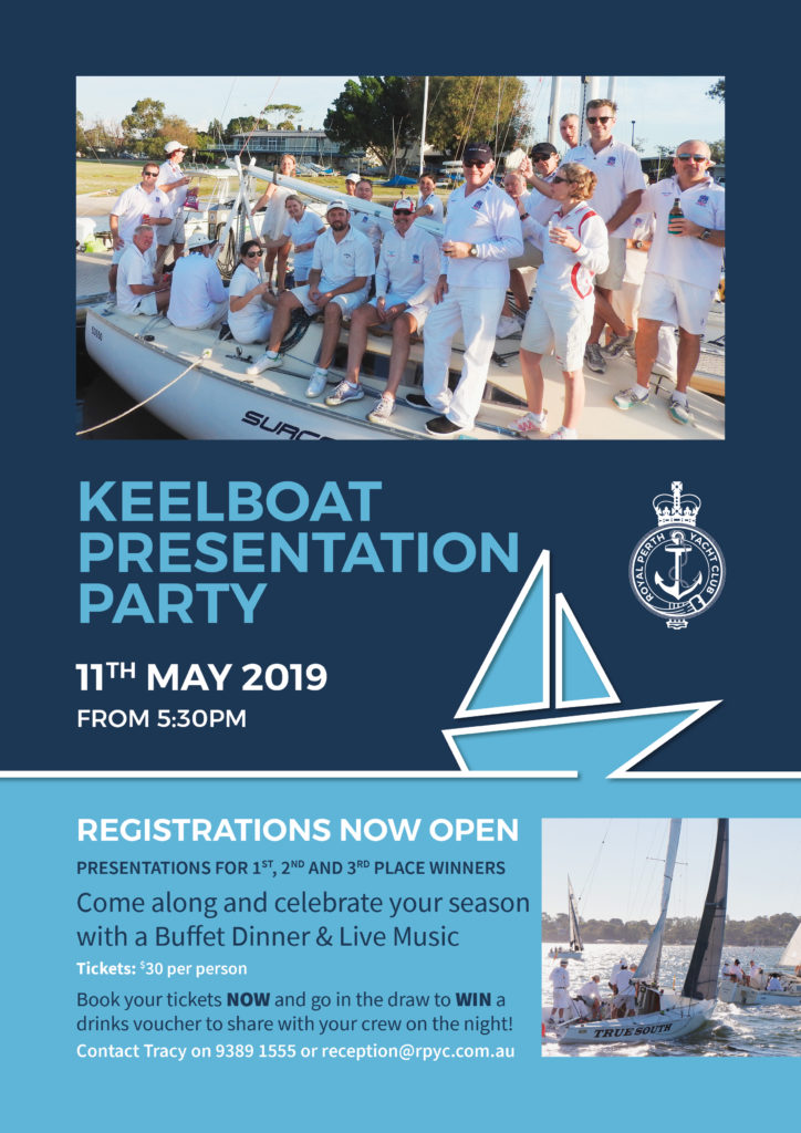 RPYC Keelboat Prize Night 04 2019