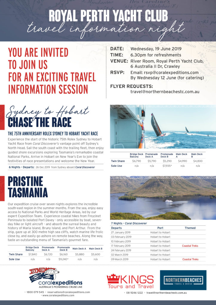 Royal Perth Yacht Club flyer