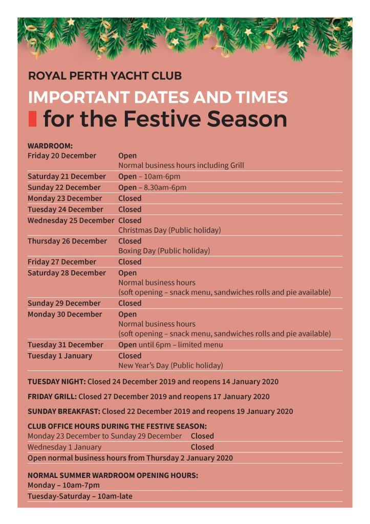 ITW Dec 2019 inhouse Festive hours