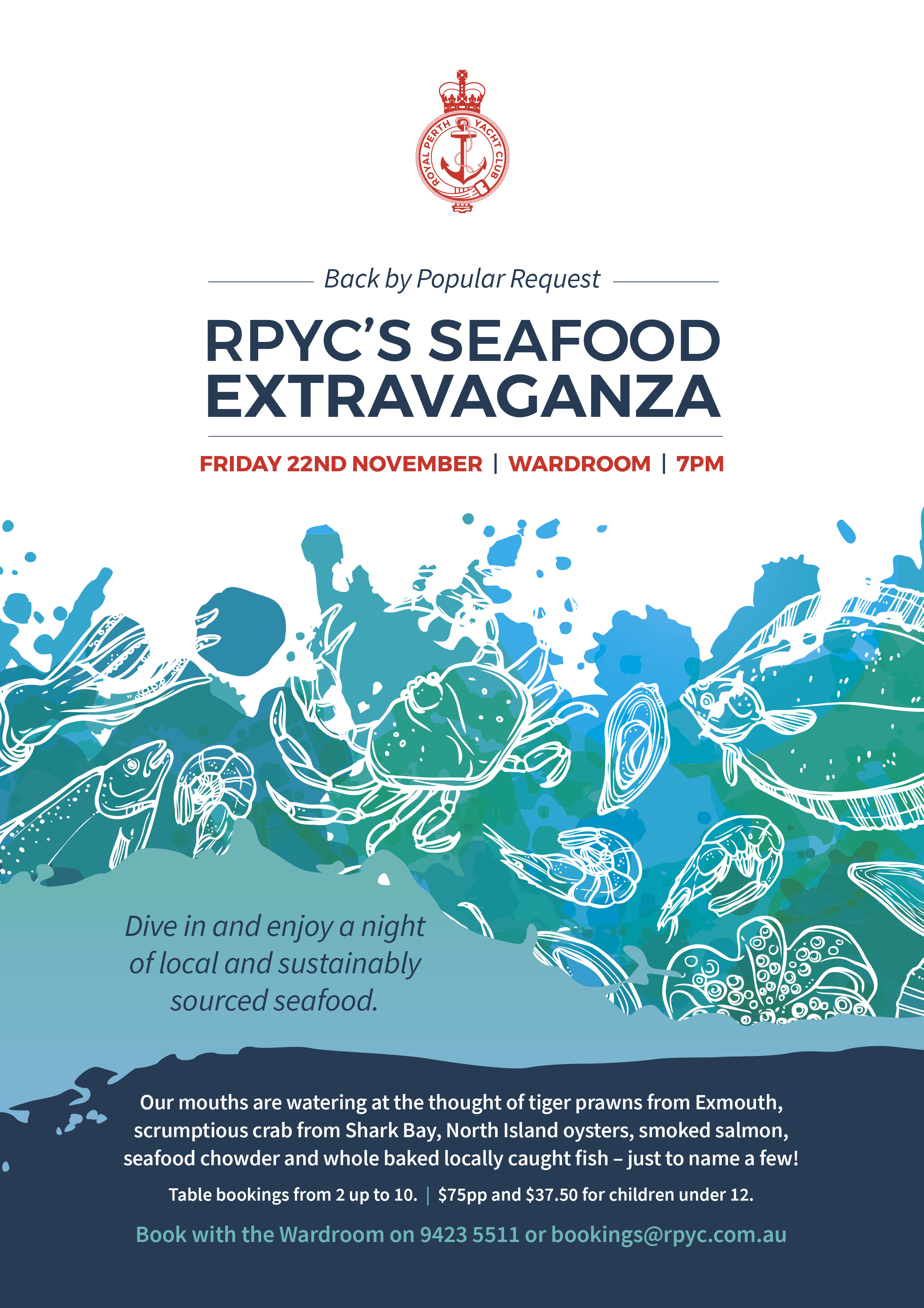 RPYC Seafood Extravaganza A4 Poster 2019 HR