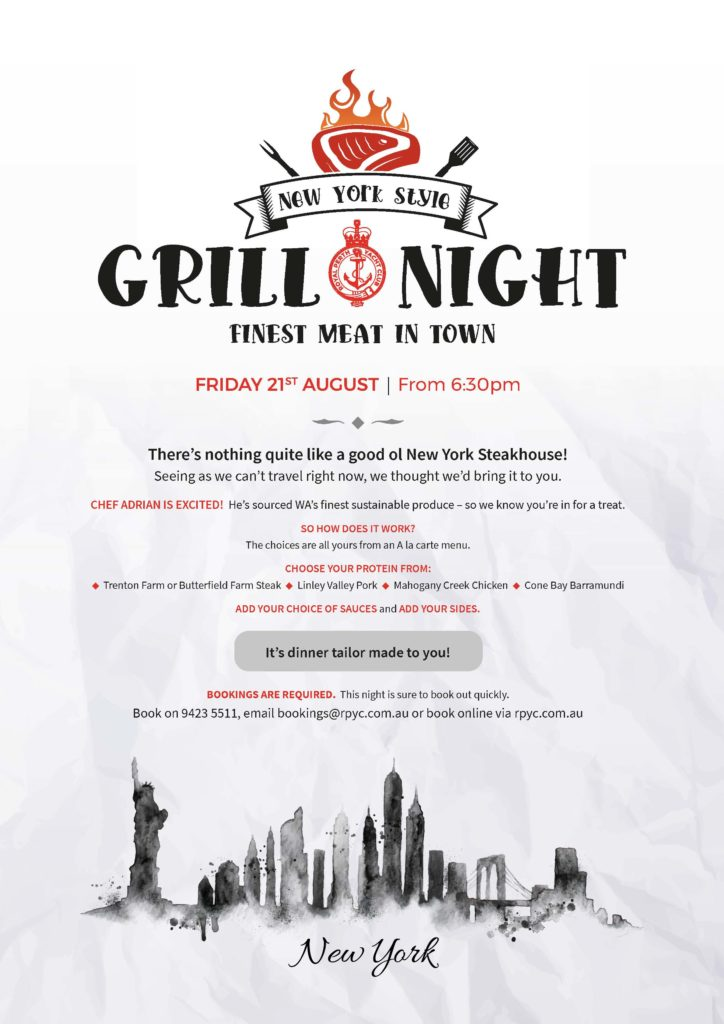 ITW July NYS Grill Night