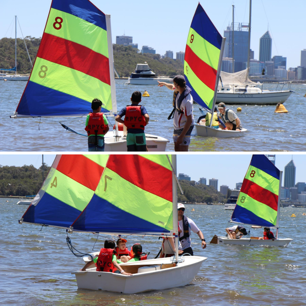 Kids school holidays learning to sail in Perth